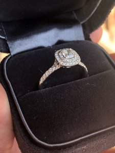 Tiffany & Co. Soleste Platinum Diamond Engagement Ring