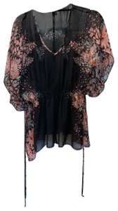 Maurices Top Black & pink