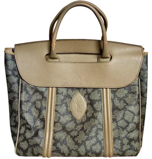 Saint Laurent Satchel in Giraffe Pattern Image 0