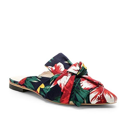 RAYE Revolve Floral Slides Bow Navy Mules Image 0