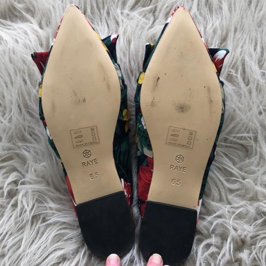 RAYE Revolve Floral Slides Bow Navy Mules Image 2
