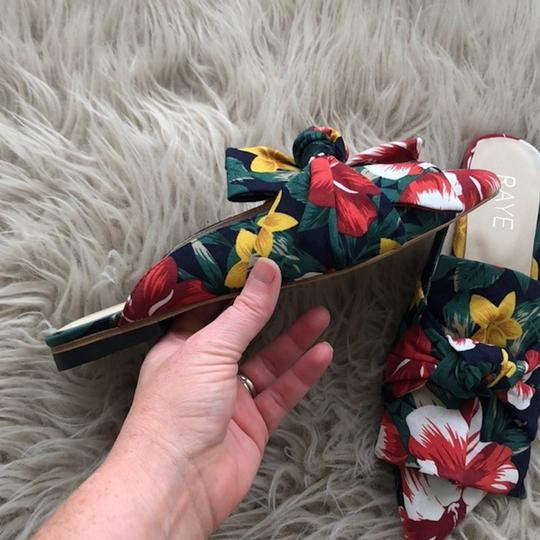 RAYE Revolve Floral Slides Bow Navy Mules Image 3