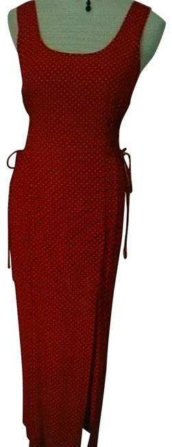 Item - Red & White Long Night Out Dress Size 8 (M)