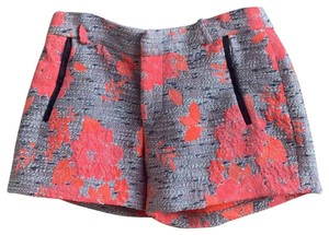 Anthropologie Mini/Short Shorts grey and pink and orange.
