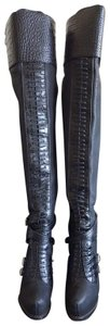 Dior Leather Overtheknee Black Boots