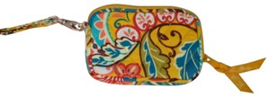 Vera Bradley Wristlet in Yellow mostly with bits of turquoise, green and red