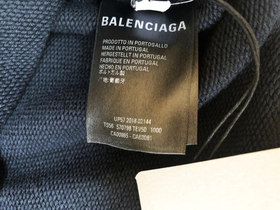 first look sale usa online huge selection of Balenciaga Black With Rainbow Logo Medium Sweatshirt/Hoodie Size 8 (M)