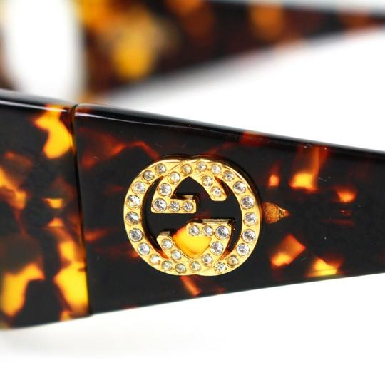 Gucci GG Crystal Logo Tortoise Clear Lens Image 2
