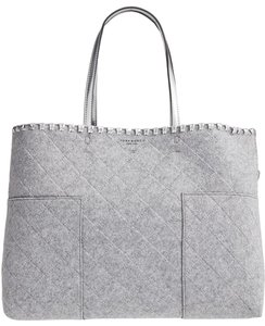 Tory Burch Block T Felt Large 44590 Tote in Gray/Silver