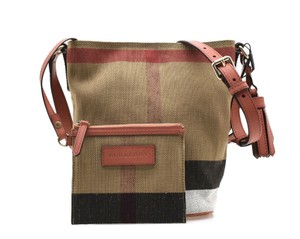 Burberry Messenger Check Brit Cross Body Bag
