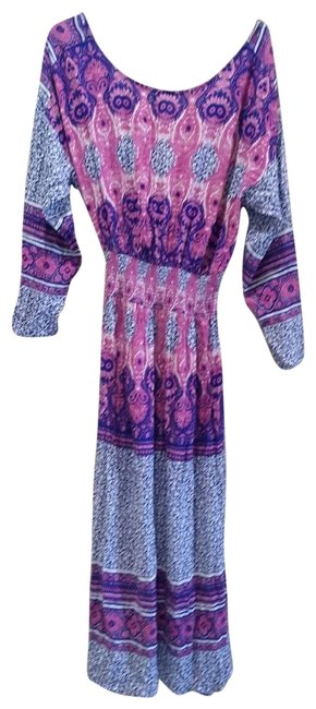 Item - Pink/Purple Folklore Mid-length Casual Maxi Dress Size 2 (XS)