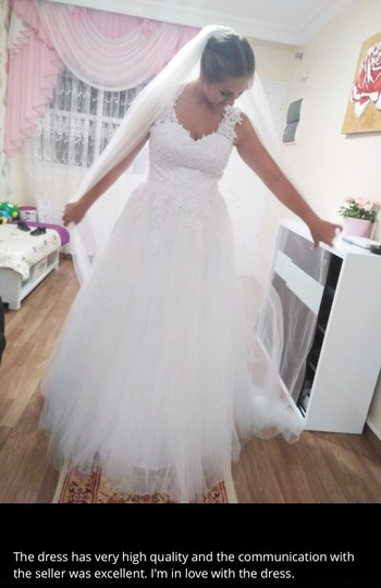 White Ivory Tulle with Pearls. 2-26w Or Customized Formal Wedding Dress Size OS (one size) Image 10