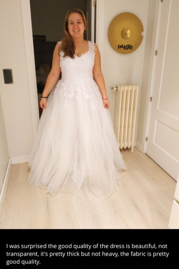 White Ivory Tulle with Pearls. 2-26w Or Customized Formal Wedding Dress Size OS (one size) Image 9