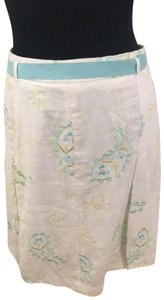 Grace Elements Skirt White with Blue & Green Sequin Paisleys