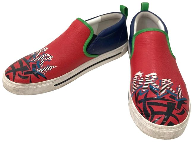 Item - Red/Blue/Green Multicolor Sneakers Flats Size EU 40 (Approx. US 10) Regular (M, B)