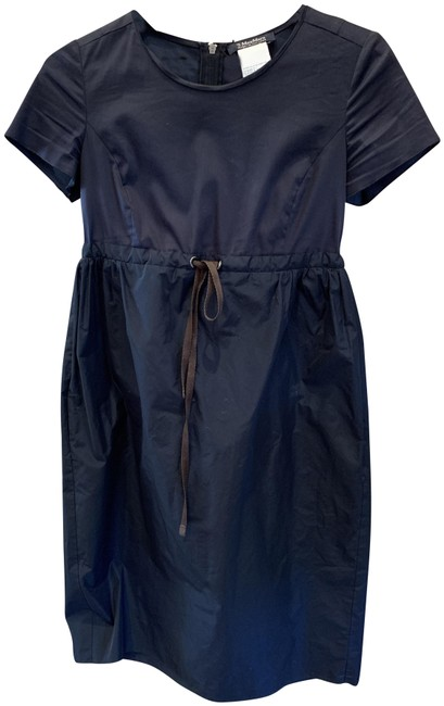 Item - Navy Spirts Line Mid-length Short Casual Dress Size 4 (S)