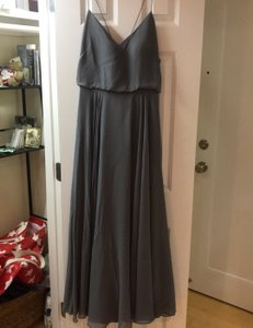 Jenny Yoo Blue/Grey Chiffon Formal Bridesmaid/Mob Dress Size 8 (M)
