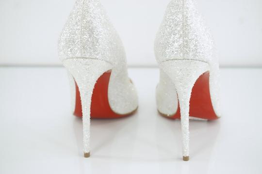 sports shoes a83e4 d71db Christian Louboutin White Pigalle Follies Glitter Pointy Toe Pumps Size EU  38.5 (Approx. US 8.5) Regular (M, B) 20% off retail