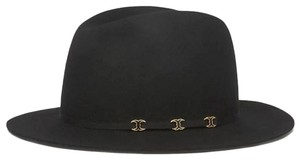 Tory Burch France Made Tory Burch triple Gemini Link logo Fedora felt wool Hat