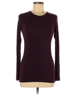 Majestic Filatures Modal Long Sleeve Viscose T Shirt dark purple