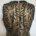Vince Camuto Black and Gold Sequin Shift Cocktail Dress Size 14 (L) Vince Camuto Black and Gold Sequin Shift Cocktail Dress Size 14 (L) Image 3