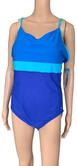 Speedo Blue One-piece Bathing Suit Size 18 (XL, Plus 0x) Speedo Blue One-piece Bathing Suit Size 18 (XL, Plus 0x) Image 1