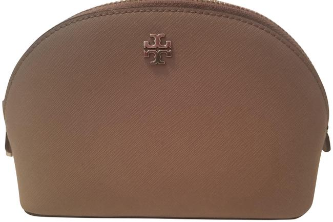 Item - French Grey York Saffiano Leather Makeup Cosmetic Bag