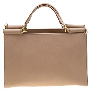 Dolce&Gabbana Leather Tote in Beige