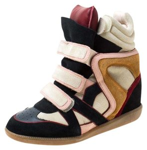 Isabel Marant Suede Leather Wedge Multicolor Flats