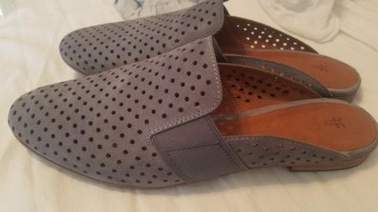 Frye Blue Leather Suede Grey Mules Image 1