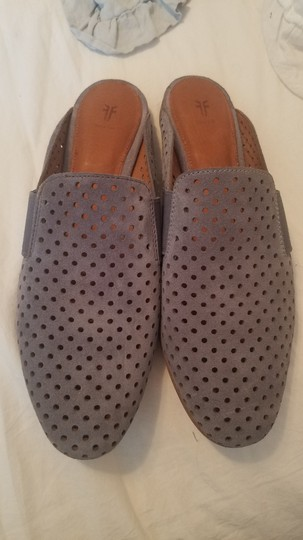 Frye Blue Leather Suede Grey Mules Image 3