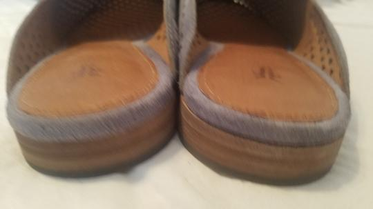 Frye Blue Leather Suede Grey Mules Image 6