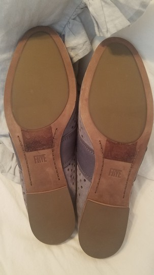 Frye Blue Leather Suede Grey Mules Image 7