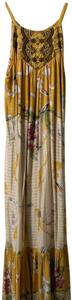 Yellow/Gold Maxi Dress by One September Anthropologie Maxi Fish