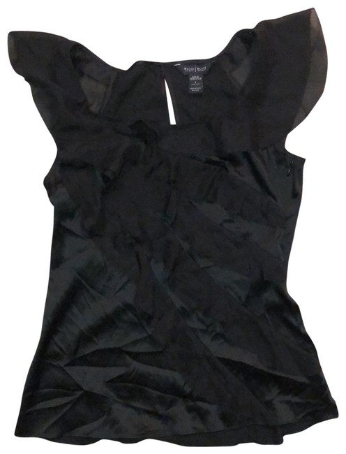 Item - Silk Ruffled Front Blouse Size 4 (S)