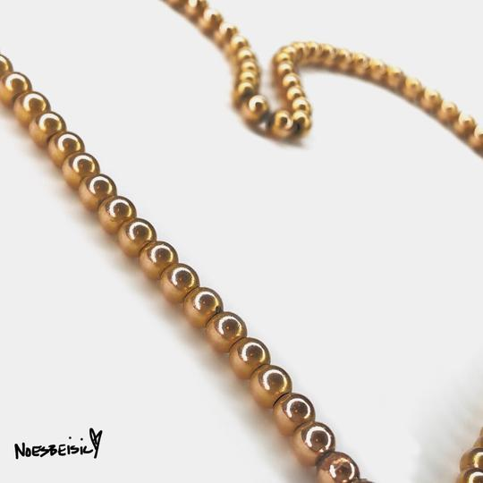 Other 1900s Victorian Antique 14k Yellow Gold Bead Necklace Image 2