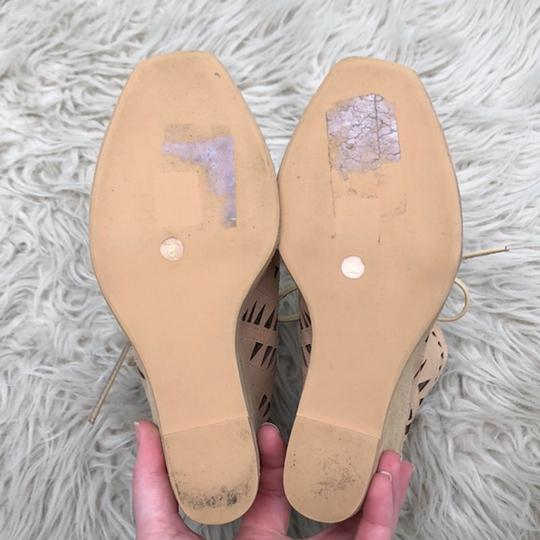 Jeffrey Campbell Cutout Lace Up Leather Tan Wedges Image 4