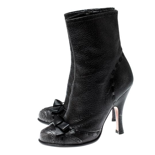 Prada Leather Detail Midcalf Grey Boots Image 3