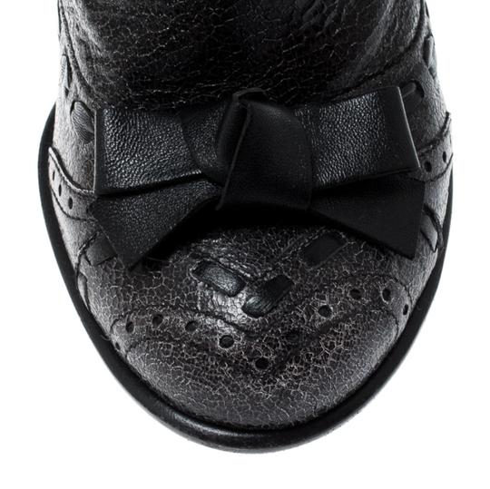 Prada Leather Detail Midcalf Grey Boots Image 6