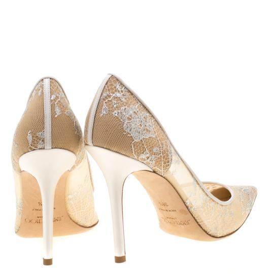 Jimmy Choo Lace Pointed Toe White Pumps Image 2