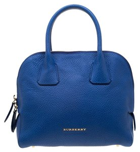 Burberry Leather Pebbled Satchel in Blue