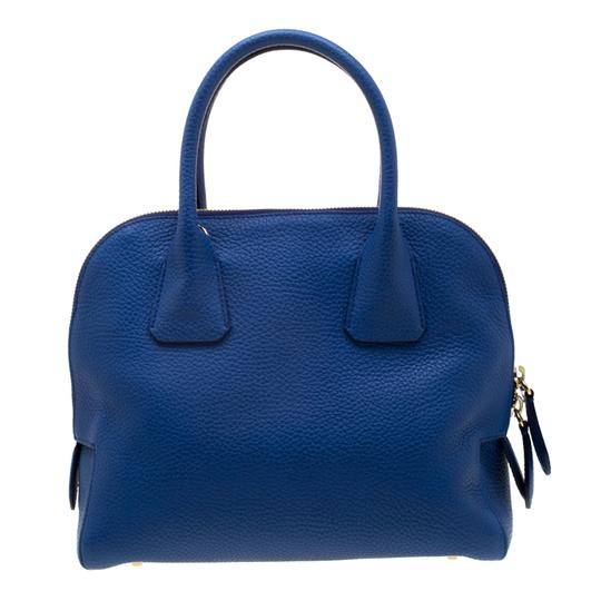 Burberry Leather Pebbled Satchel in Blue Image 1