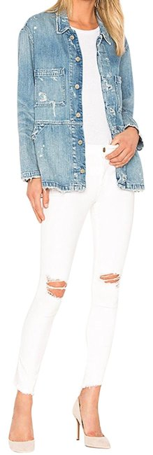Item - White Distressed Margaux Instasculpt Skinny Jeans Size 8 (M, 29, 30)