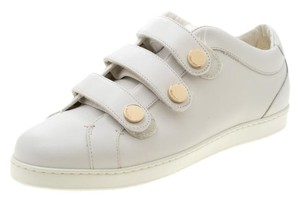 Jimmy Choo Leather Trainers Sneakers White Flats