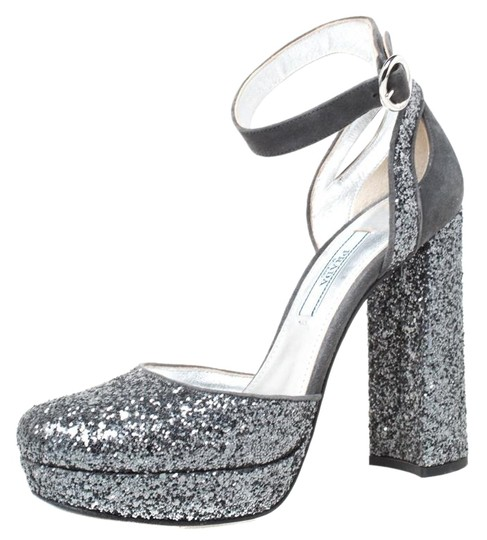 Preload https://img-static.tradesy.com/item/25886386/prada-grey-metallic-glitter-and-suede-ankle-strap-platform-sandals-size-eu-36-approx-us-6-regular-m-0-1-540-540.jpg