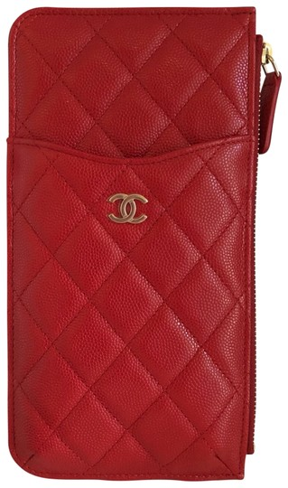 Preload https://img-static.tradesy.com/item/25886718/chanel-red-new-phone-case-pouch-leather-caviar-gold-19b-wallet-0-1-540-540.jpg