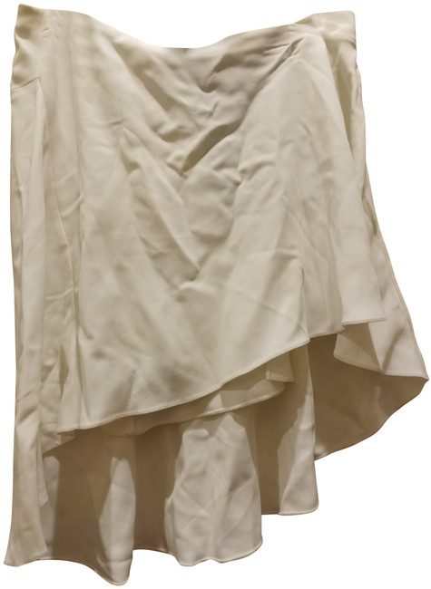 Item - White 4us Made In Uk Assymetryc Ruffle Skirt Size 4 (S, 27)