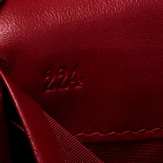 Prada Red Quilted Nylon and Leather Continental Flap Wallet Image 6