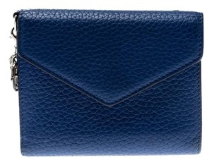 Dior Dior Blue Leather Diorissimo Envelope Wallet
