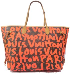 Louis Vuitton Lv Monogram Neverfull Gm Graffiti Shoulder Bag